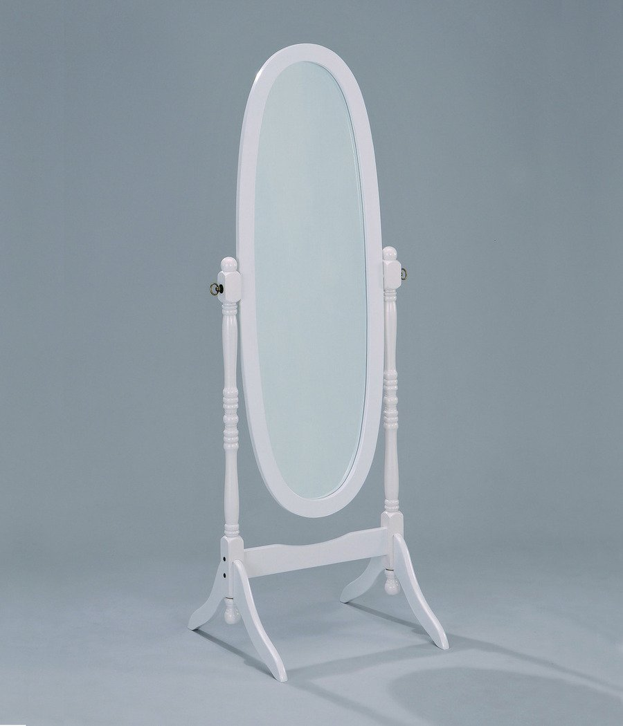 Cheval Mirror in White Finish
