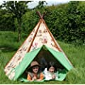 INDOOR/OUTDOORCANVAS WIGWAM TEEPEE PLAY TENT - COWBOYS & INDIANS FROM CENTURION PINE