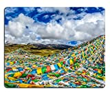 MSD Natural Rubber Mousepad The pray flags in the Himalayan mountain of Tibet IMAGE 31479366