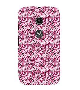 EPICCASE puzzled words Mobile Back Case Cover For Moto E 2nd Generation (Designer Case)