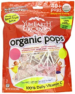 YumEarth Organic Lollipops, 8.5 Ounce Bag (Pack of 12)