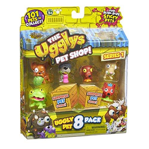 Ugglys Pet Shop - Set di 8 figurine di animali, modelli assortiti