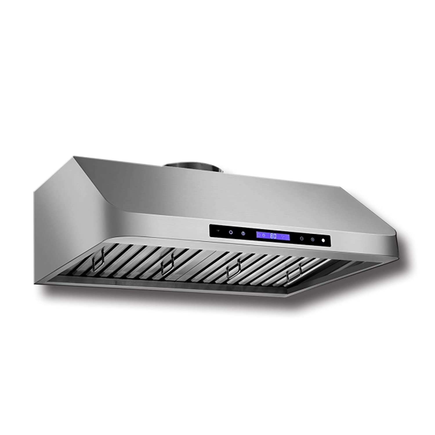 Proline PLJW 120 Under Cabinet Range Hood - 6 Speed - 900 Max CFM Low Profile - Stainless Steel Professional Baffle Filters Dishwasher safe 3 Year Warranty Sizes include 30 36 42 and 48 inch