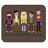 The Big Bang Theory Poster Print Cartoon Style Mouse Pad