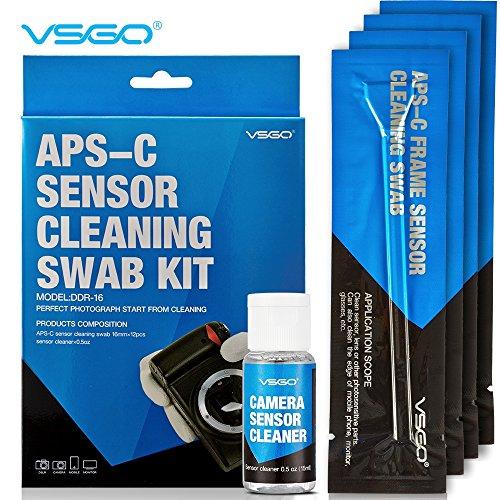 ABLEGRID DDR-16 APS-C Frame (CCD/CMOS) Digital Camera Sensor Cleaning Kit - Swab Type 2 (Box of 12 X 16mm Swab + 15ml Sensor Cleaner) (Camera Wet Cleaning Kit compare prices)