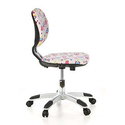 Kids - swivel chair / office chair BILLY KID Flowers & Hearts