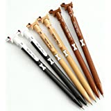 GANSSIA Dog with Bone Design Metal 0.7mm Mechanical Pencils Pack of 8 Pcs