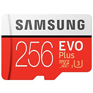 100% Original Samsung Evo Plus Class 10 Micro SD Card Flash TF Microsd Memory Card 256GB with Adapter and Card Reader (Color: 256GB)