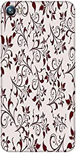 Snoogg seamless floral pattern abstract background Designer Protective Back Case Cover For Micromax Canvas Fire 4 A107