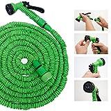 Hochwertiger Gartenschlauch Flexibler Wasserschlauch Schlauch 7-15 m inkl 7fach Multifunktions Sprühkopf