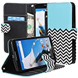 NEXUS 6 Case, MOTOROLA Nexus 6 Flip Case - E LV MOTOROLA Google Nexus 6 Case Deluxe PU Leather Folio Wallet Case...