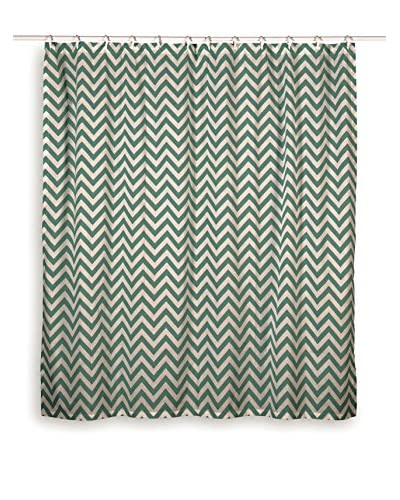 Rizzy Home Teal Chevron Shower Curtain
