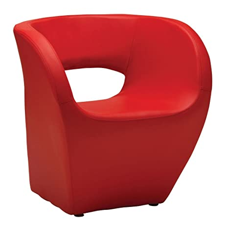 Protege Homeware Red Leather Effect Aldo Chair