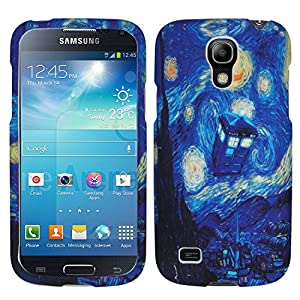 Starry Night TARDIS Doctor Who Blue Police Box Inspired SamSung Galaxy S4 mini i9192/i9198 Nice Durable Hard Case Cover