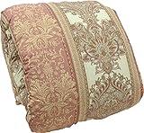 羽毛布団 マザーグース ダウン95%フェザー5% 2層式 シングル 日本製 (ピンク)