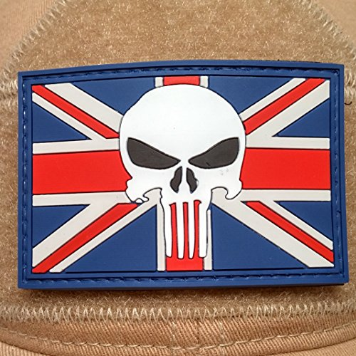 UK Flag Punisher Morale Patch - Velcro Morale Patch, Punisher Morale Patch, British Flag Patch (Velcro British Tan compare prices)