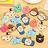 Holrea 1Pc Key Cap Tags Cartoon ID Identity Key Cap Covers Key Identifier Silcone Housekey Labels Sleeve Multicolor Key Ring Cap Head Cover Key Chain Cap Fits Most Keys (Color: Multi)