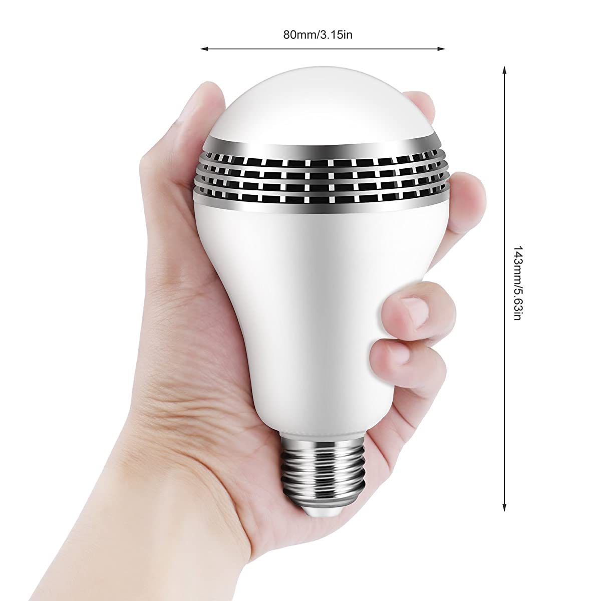 ICOCO Bluetooth Smart Speaker Light E27 LED White + RGB Bulb Colorful Lamp Smart Music Audio Bluetooth Speaker with Remote Control for Home, Stage