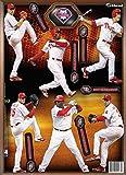 MLB Philadelphia Phillies 2013 Six Player Fathead Teammate Wall Decal, 8 x 16-Inch, Red
