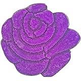 Super Soft Solid Color Area Rug - Modern Rose Flower Shaped Shag Cozy 35 floor Mat with 3D affect, Decorative Floral Carpet For Kids Room Boys & Girls, Living Room or Bathroom Home carpet, Made of 100% Polyester
