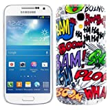 Hard case Comic design for Samsung Galaxy S4 Mini i9190 / i9195 in White Black etc. - from kwmobile