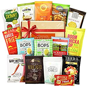 Non GMO Free Snacks Healthy Gift Box Premium Care Package ( Gluten Free Snack Natural Organic Vegan) School Lunch Bundle 15 ct