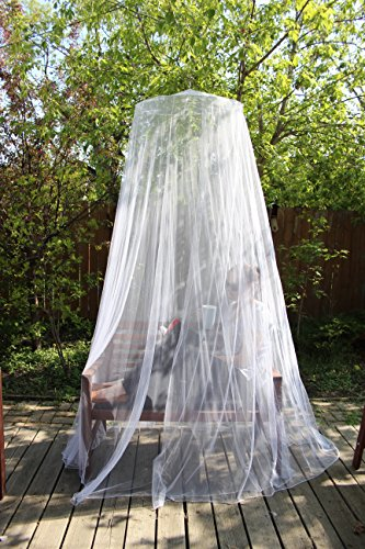 Mosquito-Net-with-Bonus-Repellent-Bracelet-and-Carry-Pouch-Extra-Large-98-inches-in-height-King-Size-Bed-Hanging-Kit-Included-Money-Back-Guarantee