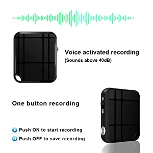 Voice Recorder, TDW 16GB Mini Voice Activated Recorder with Playback, Ultra Small Audio Recorder w/USB Rechargeable, 50 Hours Long Time Recording, Ideal for Lectures, Meetings, Interviews (Color: Black)