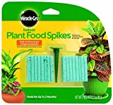 Miracle-Gro 300157 Indoor Plant Food 48-Spikes, 2.2-Ounce(2Pack)