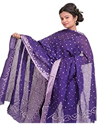 Exotic India Bandhani Tie-Dye Dupatta From Gujarat With Woven Border