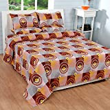 Soni Traders Cotton Double Bedsheet with 2 Pillow Covers