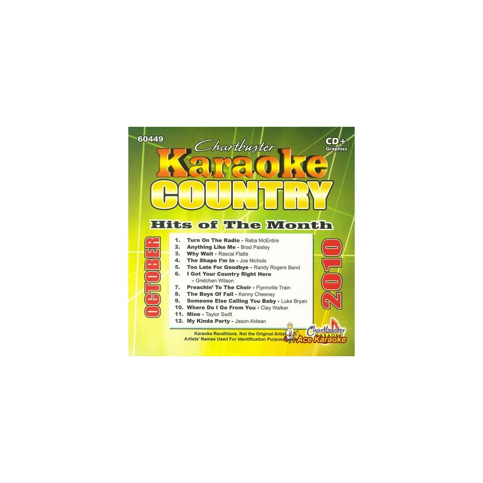 Chartbuster Karaoke CDG CB60449 Country Hits of the Month