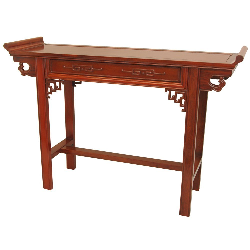 ORIENTAL FURNITURE Rosewood Qing Hall Table - Honey