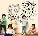 UberLyfe Magic of Music Wall Sticker (Wall Covering Area: 75cm x 65cm)