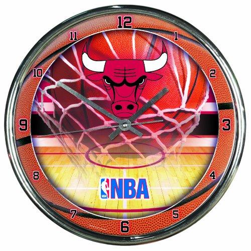 NBA Chicago Bulls Chrome Clock