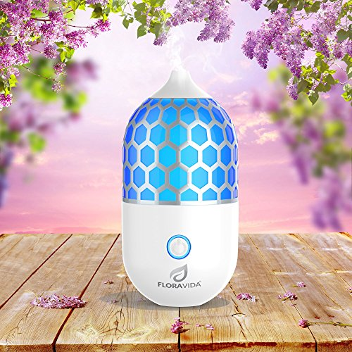 Essential Oil Diffuser: Ultrasonic Cool Mist Aromatherapy | Multi-Color LED Light | Whisper Quiet | 3-Hour Auto Shut-off | Portable for Room, Home, Office or Yoga Studio (Pier One Air Freshener compare prices)
