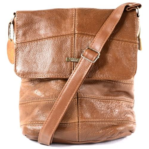 Ladies Leather Cross Body Bag   Shoulder Bag (Black, Tan, Dark Brown)