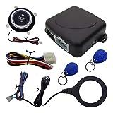 Smart RFID Car Alarm System Engine Starter Push Button Start/Stop Kit Safe Lock for 12V Vehicle(Blue Light)