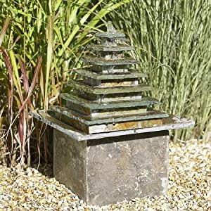 Amazon.com : Isis Electric Slate Water Fountain Feature : Free Standing Garden Fountains : Patio