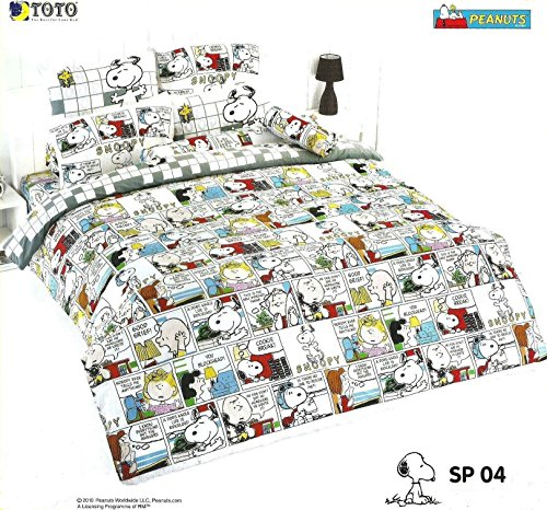 Snoopy Peanuts Bed In Bag Set ; 1 Four Season Comforter With 4 Pieces Of Bed Fitted Sheet Set (King, Sp04) front-504141