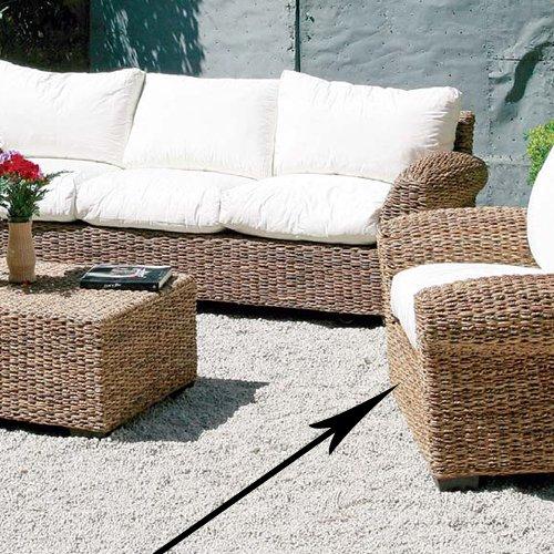 Poltrona in fibra natuarale da arredo giardino per esterno