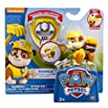 Paw Patrol Pup Pals Rubble Bundle - Action Pack Pup & Badge and Plush!