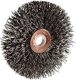 Weiler Copper Center Wire Wheel Brush, Round Hole, Steel, Crimped Wire