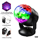 Z Zeben Activated Party Lights Strobe Lamp 7 Modes Color Disco Ball Light Battery Powered/USB Plug in LED DJ Lights RBG Disco Ball Light for Bar Club Party DJ Karaoke Car Wedding Show