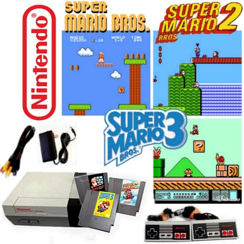 Nintendo NES Game System with Super Mario Bros. 1, 2 & 3 (Old Game Consoles Nintendo compare prices)