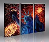 Liberty V2 Statue of New York * huge modern canvas art print gallery framed ready to hang 51