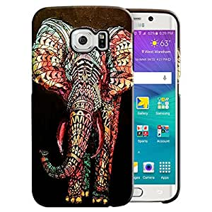 Theskinmantra Symmetric Elephant Back Cover for Samsung Galaxy S6 Edge