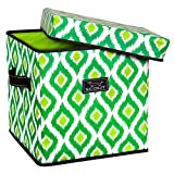 SCOUT Rump Stump Small Lidded Storage Bin, Emerald Eyele, 14 by 14 by 14-Inches