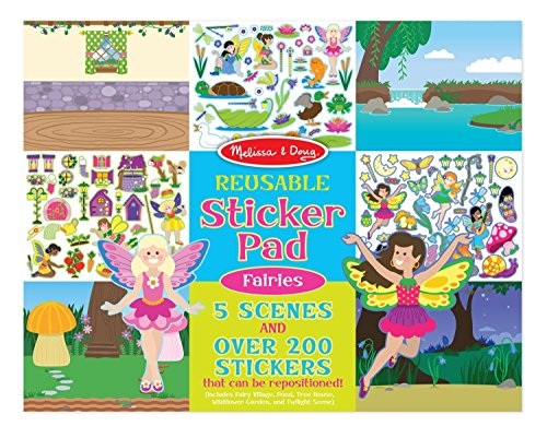 Melissa & Doug Reusable Fairies Sticker Pad - 1