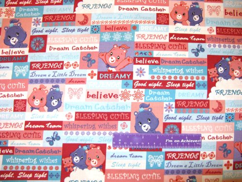 """44"""" Wide Care Bears Adventures Care-A-Lot Cotton Fabric By The Half Yard front-140193"""